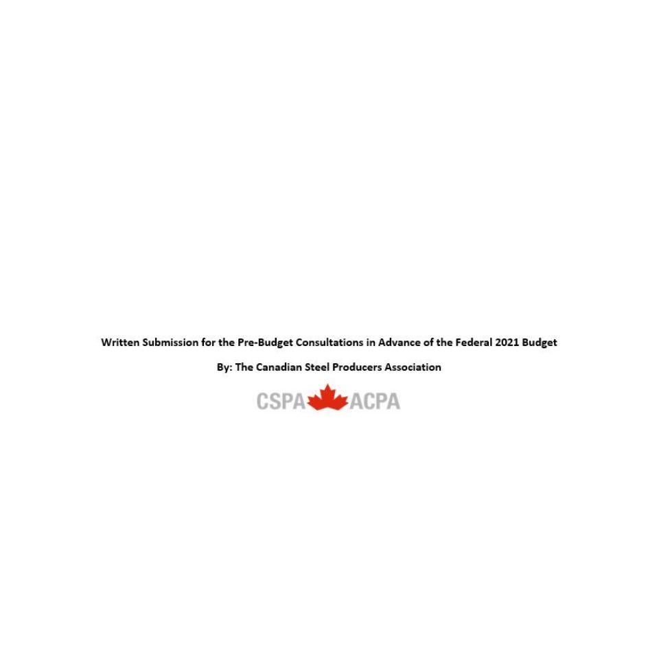 CSPA 2021 Pre-Budget Submission
